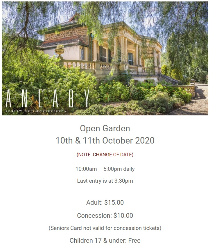Anlaby Station Historic Open Gardens – Sat 10th & Sun 11th Oct 2020