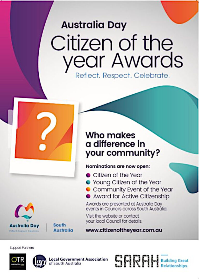 Citizen of the Year Nominations – 2020 Closing on 20th Nov. 5pm