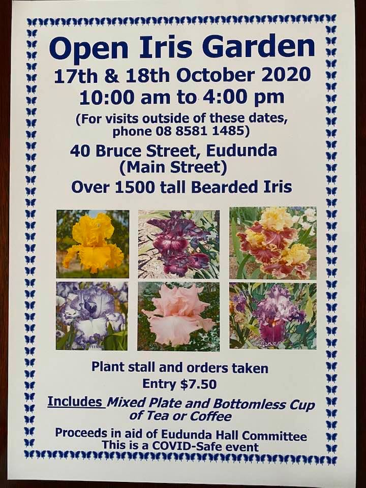 Betty Grays Tudor Iris Gardens - Open Garden 17th - 18th Oct. 2020