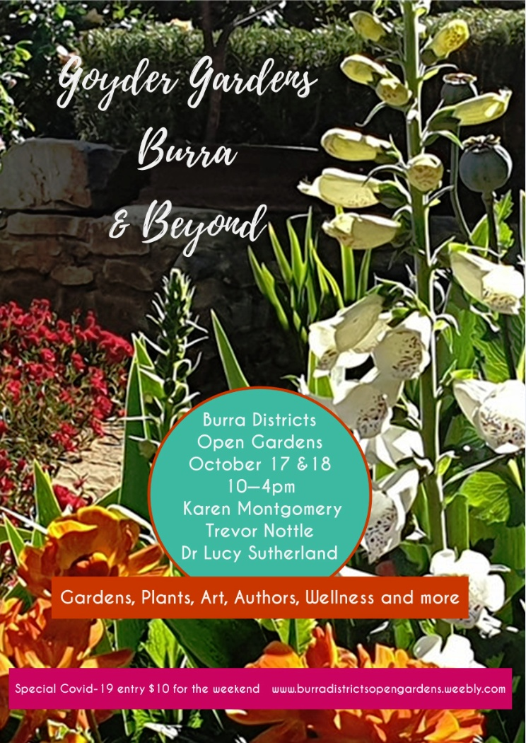 Burra Districts Open Gardens 17th – 18th Oct 2020