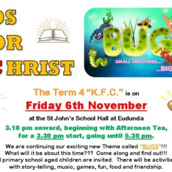 Kids For Christ (KFC) Term 4 – Fri 6th Nov 2020