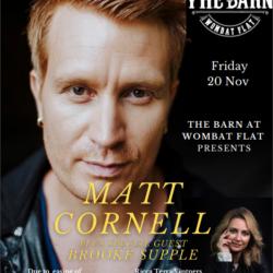 Matt Cornell & Guest Brooke Supple – 20th Nov 2020 – The Barn at Wombat Flat