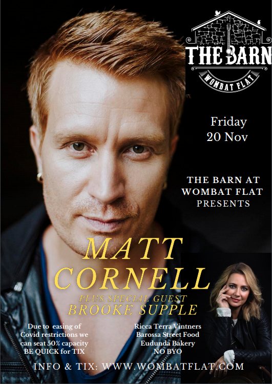 Matt Cornell & Guest Brooke Supple – 20th Nov 2020 – The Barn at Wombat Flat