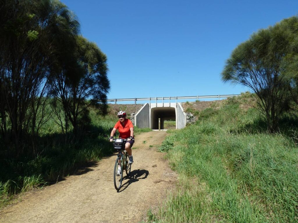 Port Fairy Rail Trail Highway underpass