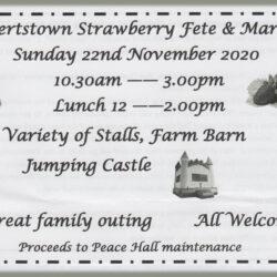 Early Notice – Robertstown Strawberry Fete & Twilight Market – 22nd Nov 2020