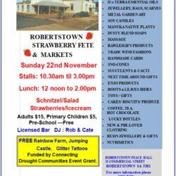Robertstown Strawberry Fete & Twilight Market – 22nd Nov 2020