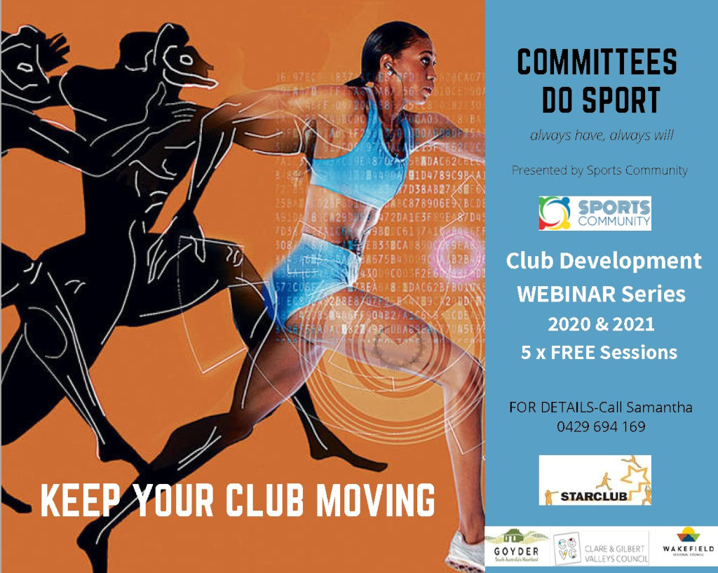 Committees Do Sport - Club Development Webinar Series 2020-2021
