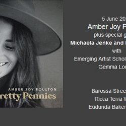 Last Chance To Enjoy Amber Joy Poulton, plus Michaela, Reid & Gemma at Wombat Flat This Saturday Night