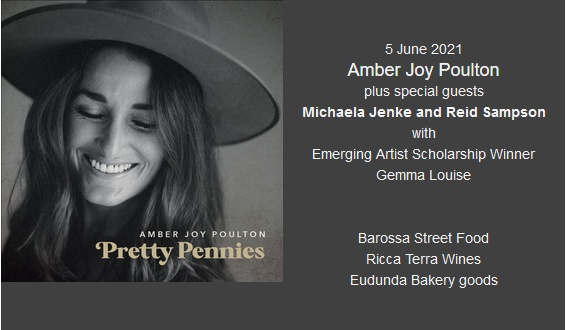 Amber Joy Poulton, plus Michaela Jenke and Reid Sampson Plus Emerging Artist Scholarship Winner Gemma Louise - The Barn at Wombat Flat 5th June 2021