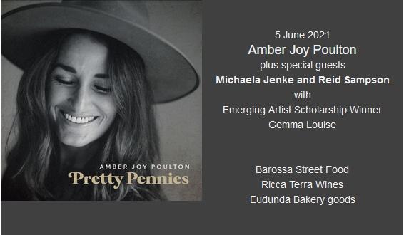 Amber Joy Poulton, plus Michaela Jenke & Reid Sampson Plus Emerging Artist Gemma Louise – 5th June 2021