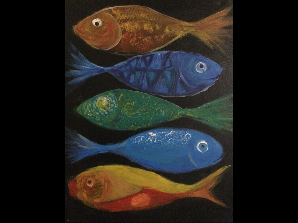 Art Workshops - Alannah Cheshire - Fish painting