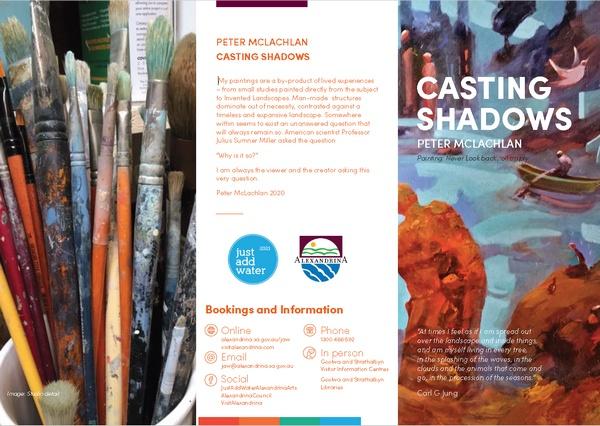 Artist Peter McLachlan - Casting Shadows exhibition - Goolwa