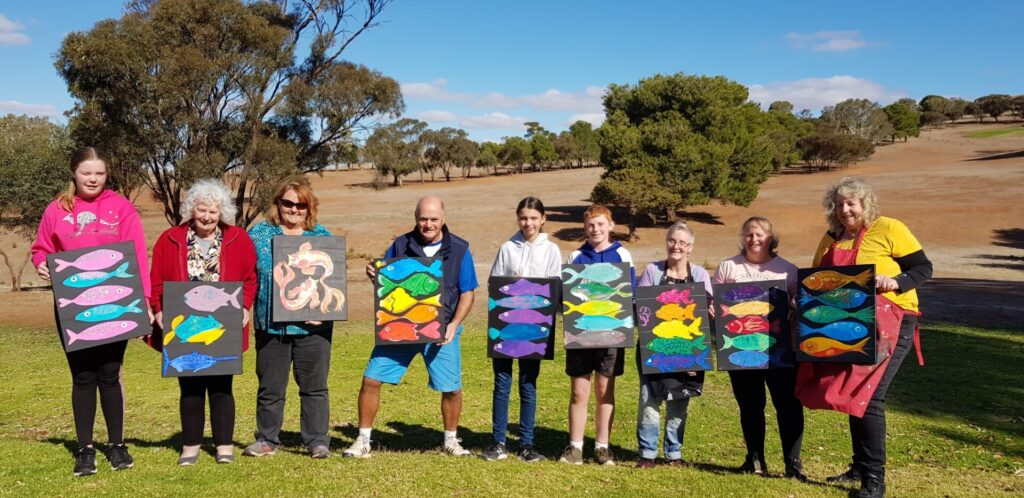 Artists Show off Their Fishy Art Painting at the Eudunda Golf Club 240421