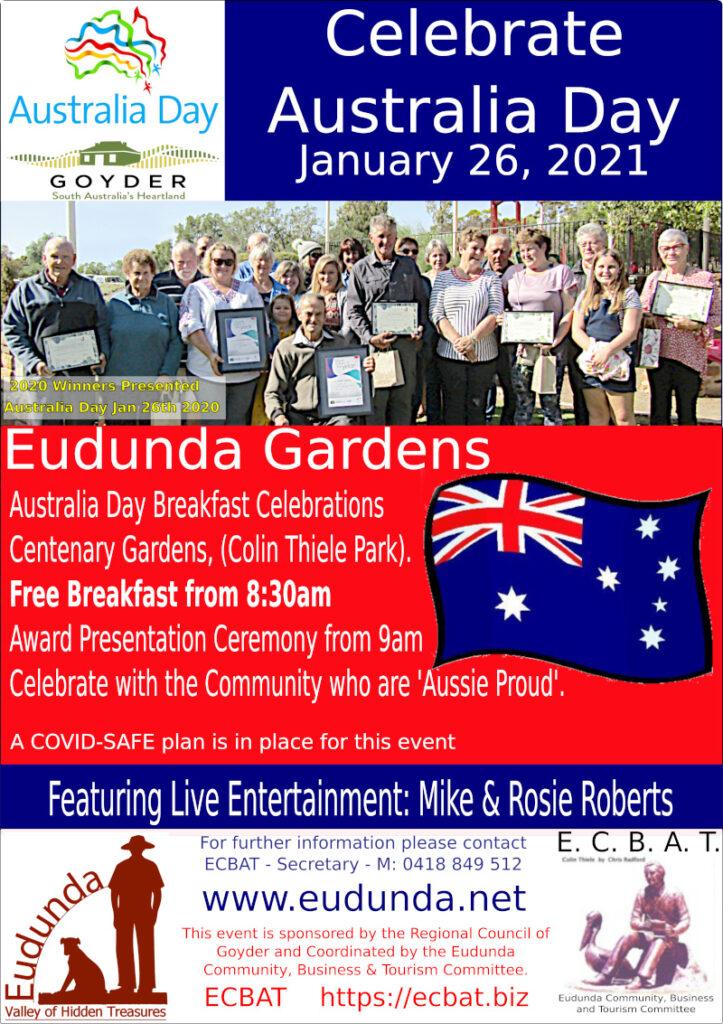 Australia Day Breakfast Eudunda 26th Jan 2021