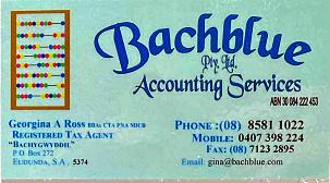 Backblue Pty Ltd Accounting Services - ECBAT Business Member