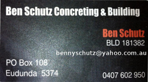 Schutz Concreting & Building – ECBAT Business Member 2021-2022