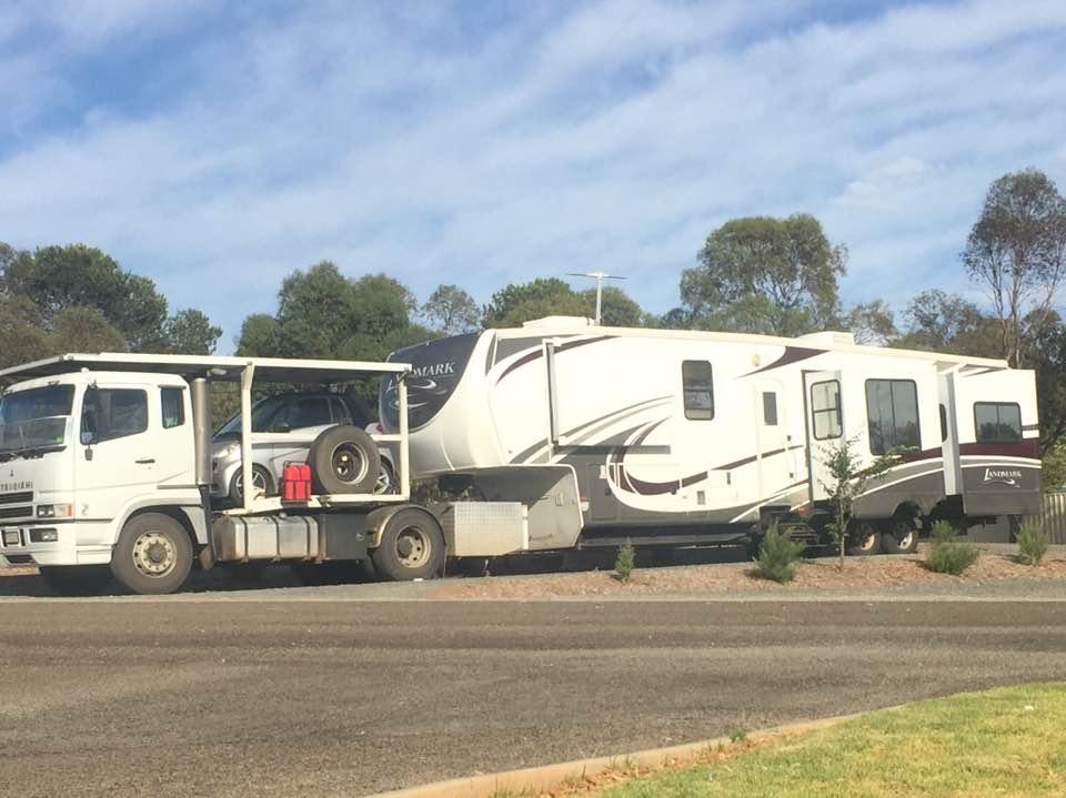 Biggest caravan at Eudunda Caravan Park Jan 2018
