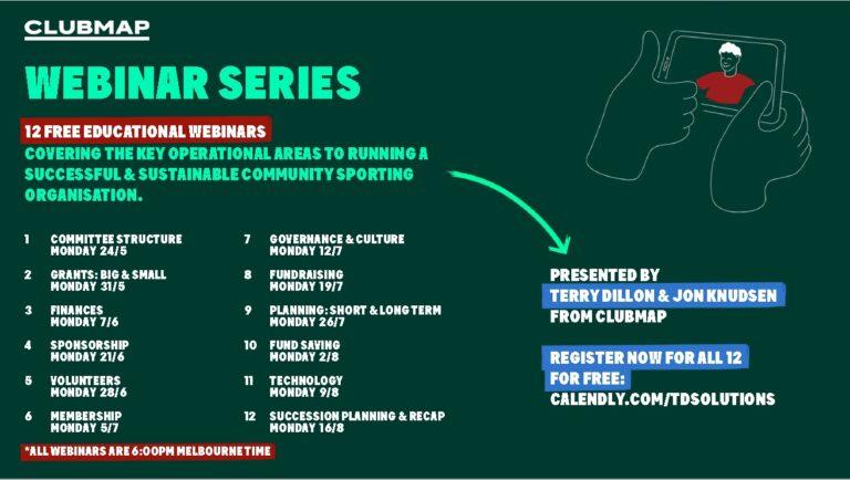 FREE Webinar Series – 'Club Governance & Culture' Monday 12th July 2021