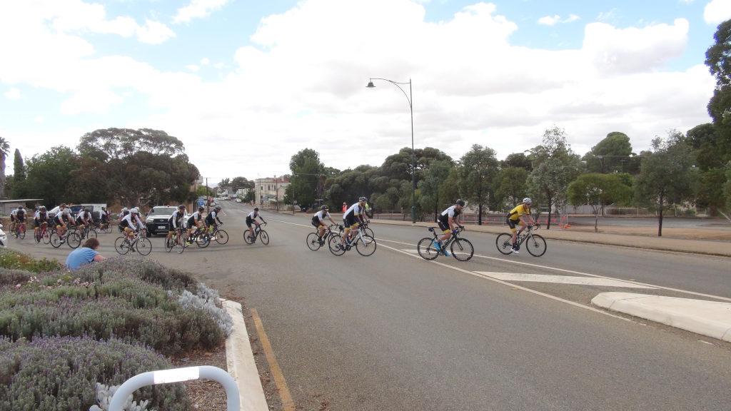 Canteen Road Raise riders leave Eudunda Gardens