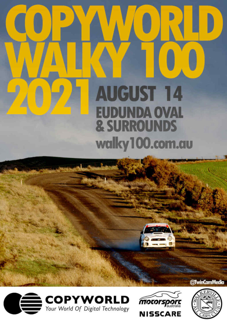 Copyworld Walky 100 – Car Rally 2021 Aug 14th Eudunda Oval & Surrounds