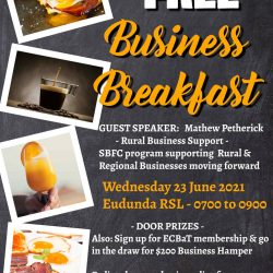 FREE Eudunda Business Breakfast On Wed. June 23rd From 7am to 9am