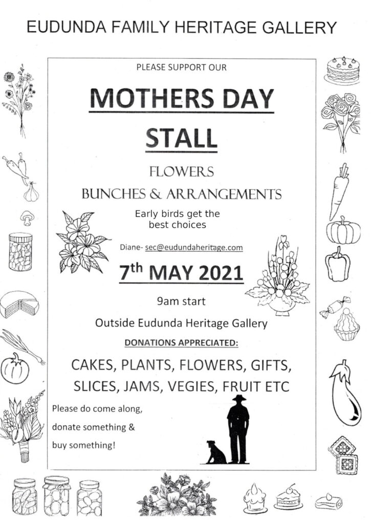 Eudunda Family Heritage Gallery - Mothers Day Stall 7th May 2021