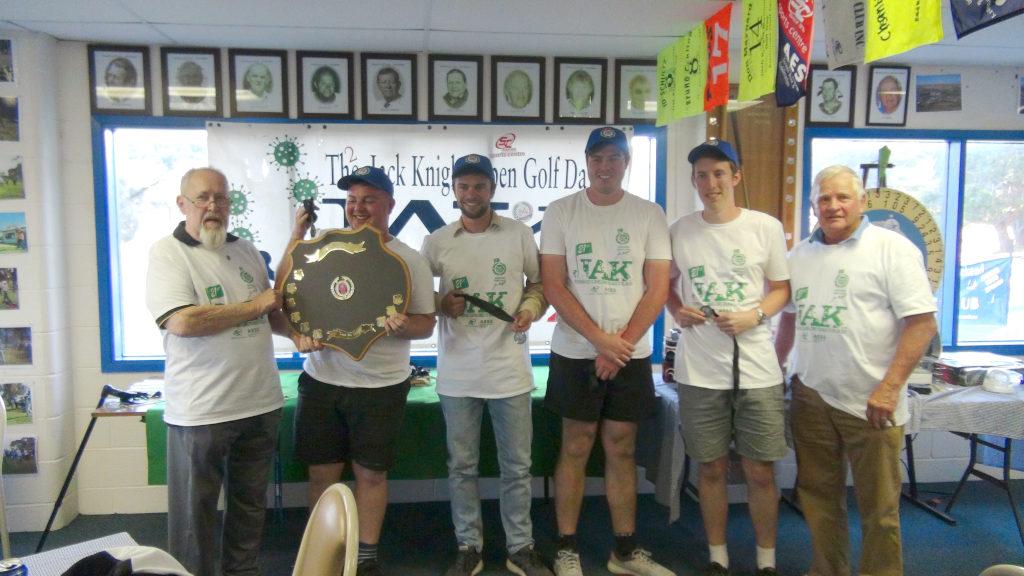 Edgar Zander Legacy Shield Winners Sam, Sam, Dan and Connor