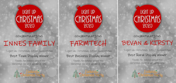 Eudunda Christmas Lights Winners Combined 2020