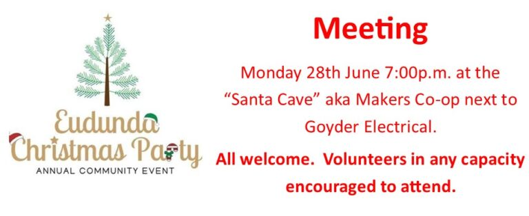 Eudunda Christmas Party Needs Your Support, FINAL CHANCE to 'Save the Event' 27th June 2021