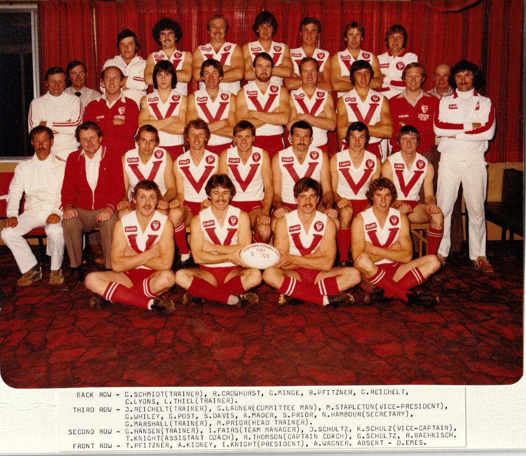 Eudunda Football Club A Grade Premiership 1981