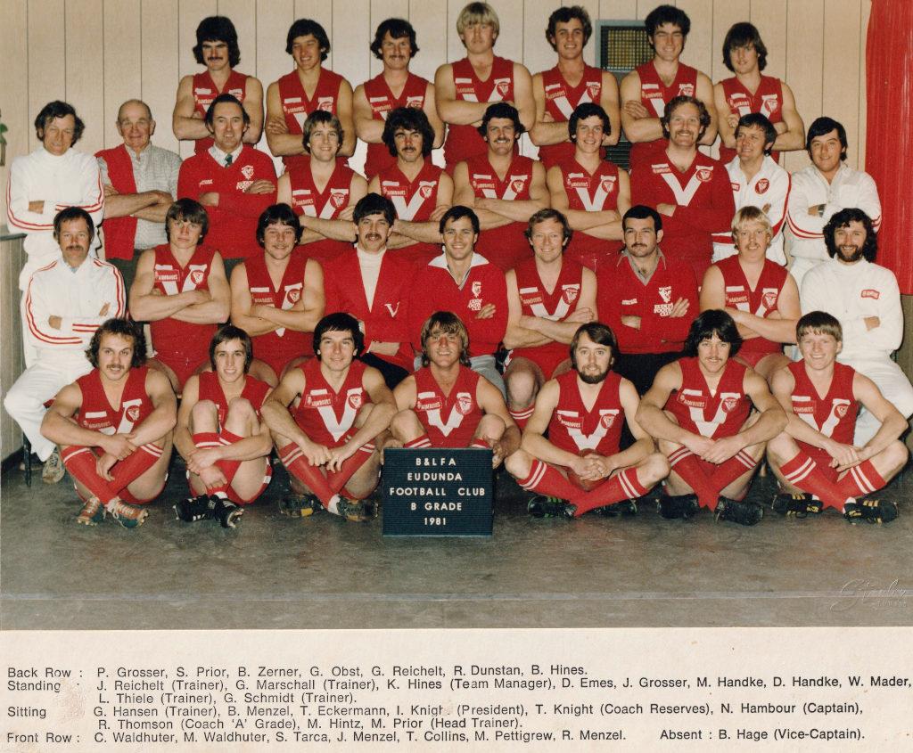 Eudunda Football Club B Grade Premiership 1981