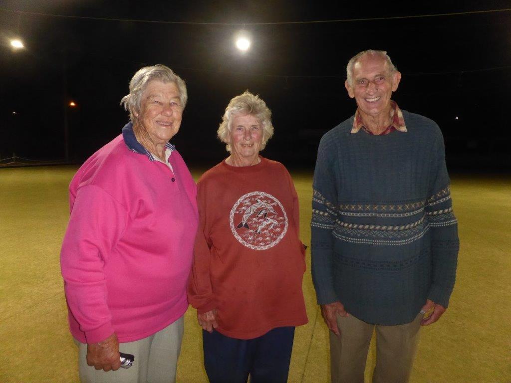 Eudunda Night Bowls Runners-up Bottom 8 -Marg Nietschke, Pam Dutschke, Colin Menz