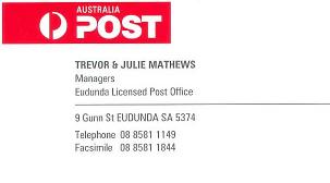 Eudunda Post Office - ECBAT Business Member