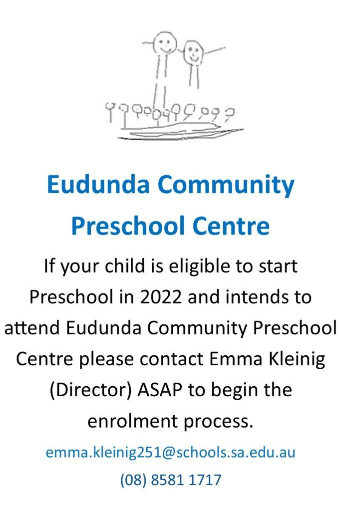 Eudunda Preschool - Register Now for 2022