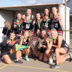 Eudunda/Robertstown A1 & J1 Netballers Celebrate 2021 Premiership Wins