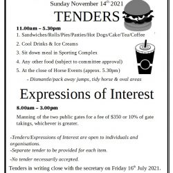 Your Club Might Benefit – Eudunda Show Tenders Are Available Now.