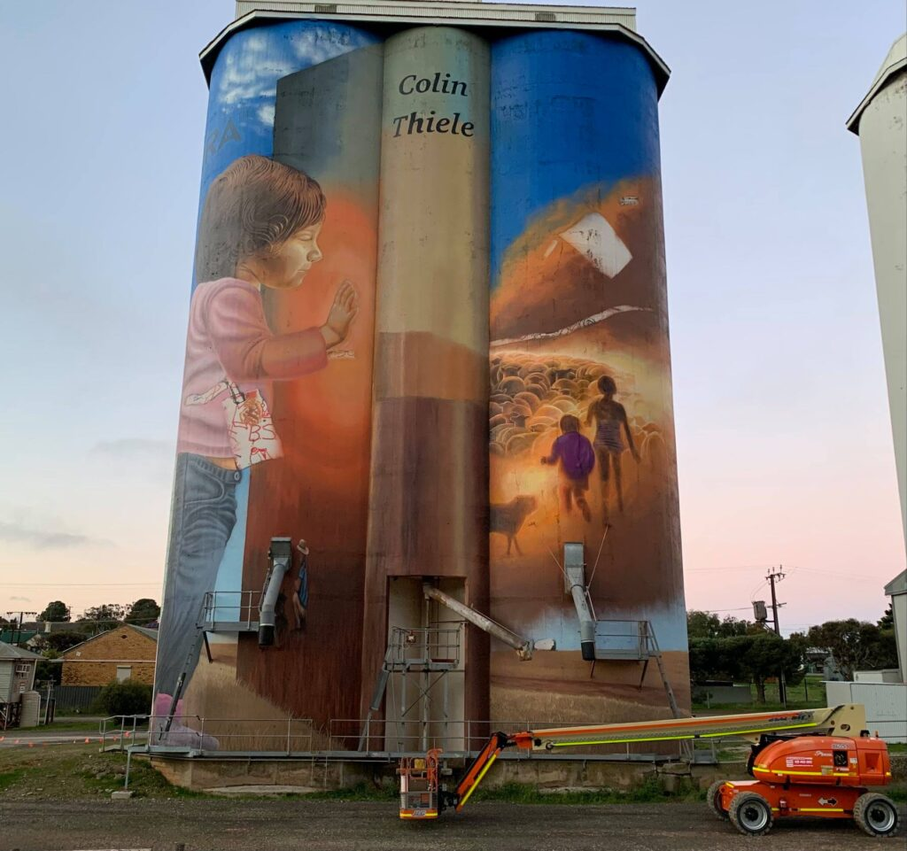 Eudunda Silo Art - Painted Continues 5th August