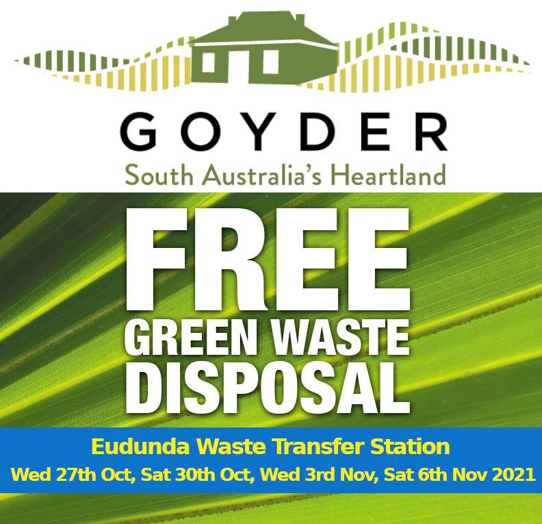 Free Green Waste Collection - Eudunda Oct & Nov 2021