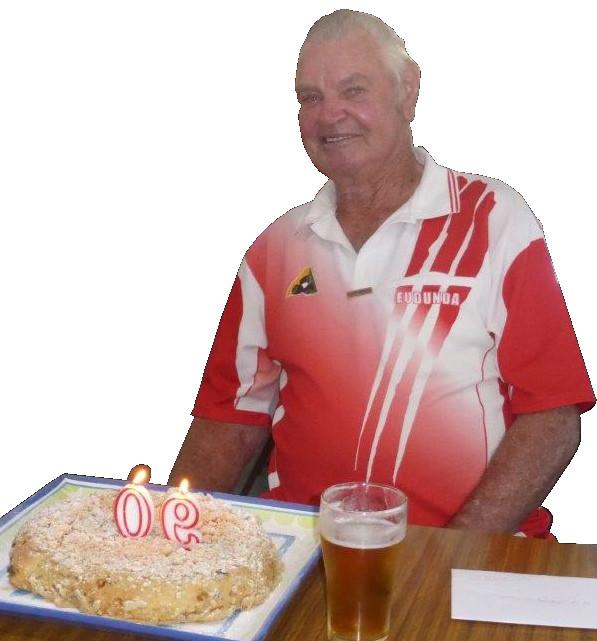 G G Schutz - 90th birthday at the Eudunda Bowls