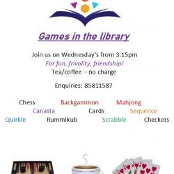 Games In The Library On Wednesdays