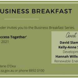 Goyder Business Breakfast Next Thur 14th Oct. At The Burra Town Hall.