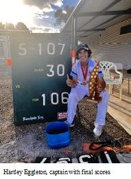 Hartley Eggleton (Truro Captain with winning scores)