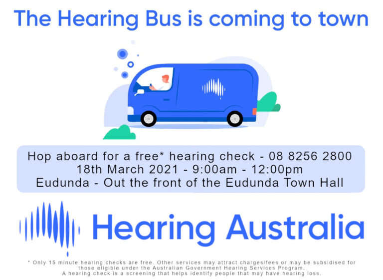 The Hearing Bus is coming to Eudunda – 18th March 2021