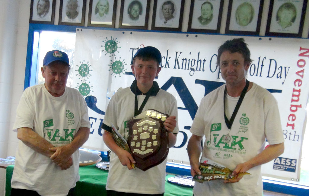JAK Golf Father and Son Winners - Seth and John Hodgson presented by Phil Timmis (Jnr)