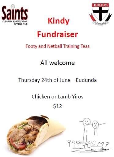 Football & Netball Training Teas Fundraise for Eudunda Kindy