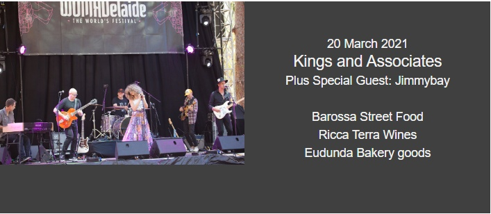 Kings and Associates, plus special guest Jimmybay - 20th March 2021 at The Barn - Wombat Flat