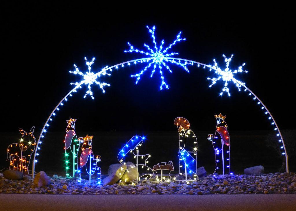 Nativity Christmas Lights 2 - Wikimedia