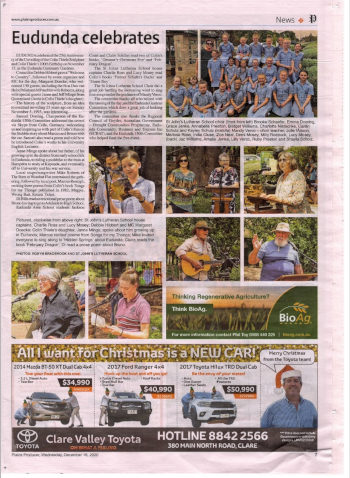 Eudunda Celebrates Souvenir Article in Plains Producer – Pick one Up Quick