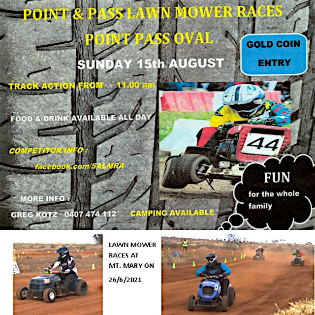 Point Pass Lawnmower Races – 15th Aug 2021