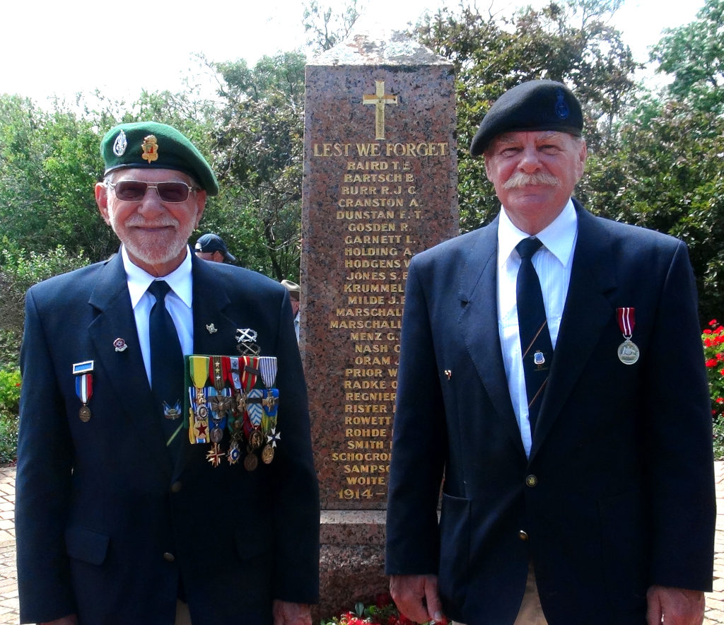Remembrance Day - Eudunda 2020 - Andy Riemekasten & his Father